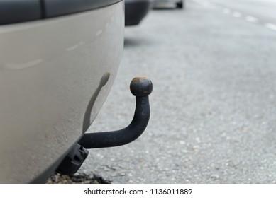 trailer hitch close-up