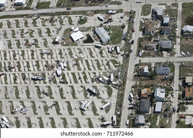 trailer park devastation Port Aransas Tx hurricane Harvey