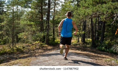 Trailrunning trough a forest