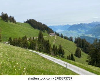 Trails for walking, hiking, sports and recreation on the slopes of the Pilatus massif and in the alpine valleys at the foot of the mountain, Alpnach - Canton of Obwalden, Switzerland