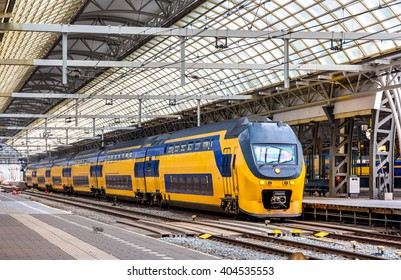 Train at Amsterdam Centraal station - the Netherlands