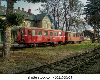 A train arrived at an abandoned station in Lednice