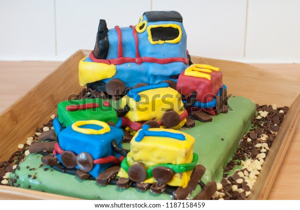 Train Birthday Cake Stock Photo Edit Now 1187158459