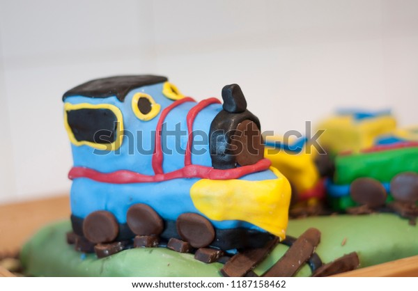 Brilliant Train Birthday Cake Stock Photo Edit Now 1187158462 Funny Birthday Cards Online Fluifree Goldxyz