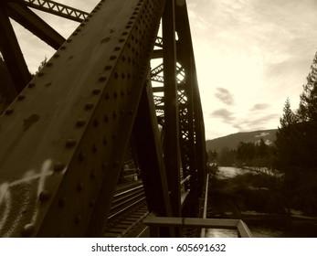 train bridge in different styles