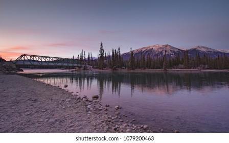 Train Bridge Through the Rockies