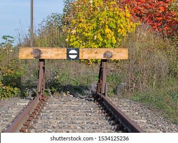 Train buffer at the siding