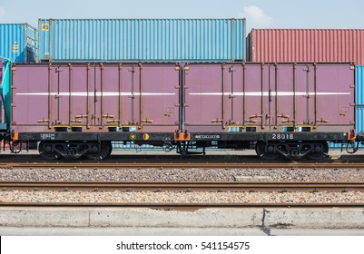 Train cargo container 20FT. Parking in the container