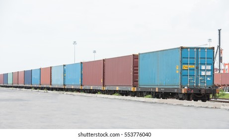 Train cargo container 40FT. Parking in the container