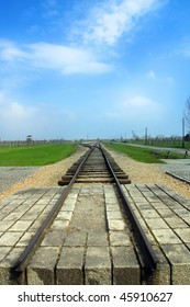 The train to death at Auschwitz concentration camp Birkenau Pola