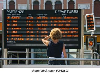 Train departure information