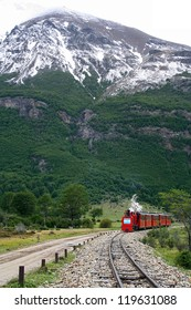 The train of the End of the World, in Ushuaia (Argentina), is coming