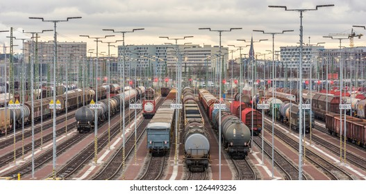 Train formation facility in Halle Saale in Germany