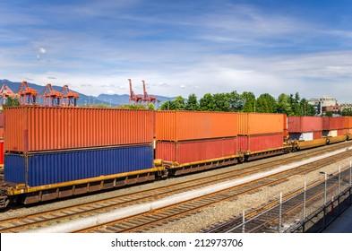 Train in a Freight Terminal
