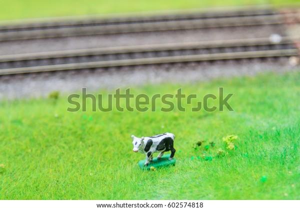 Train Hobby Model On Model Railway Stock Photo (Edit Now