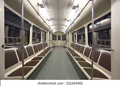 train inside the empty car