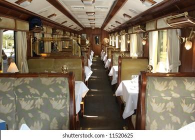Train Interior, Hiram Bingham Orient Express, Cusco to Machu Picchu, Peru