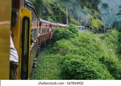 Train to Kandy in Sri Lanka