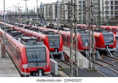 Train at the mainstation in Frankfurt am Main, Germany