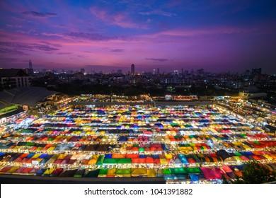 Train Night market at Bangkok, Thailand