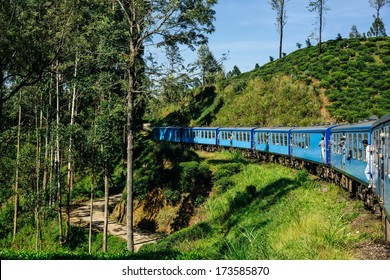 train from Nuwara Eliya to Kandy , beautiful highland ride and countryside