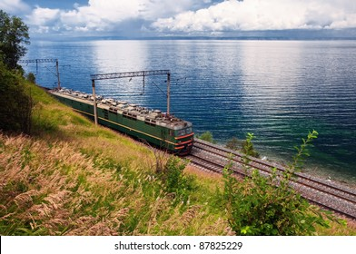 Train on Trans Baikal Railway, Russia
