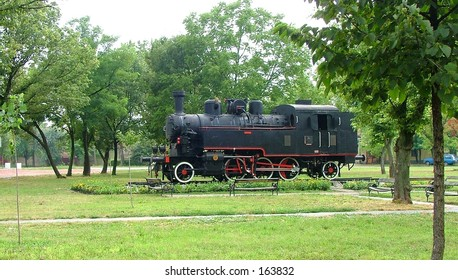 train in park