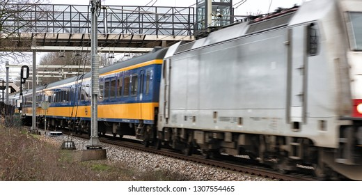 Train passes with high speed small station