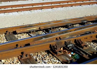 Train, Railway, Detail, Old Tracks