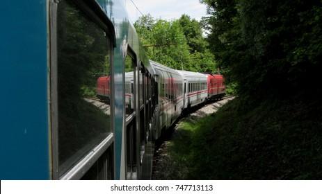 Train Ride Through Forest