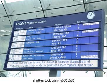 train schedule Billboard in Germany