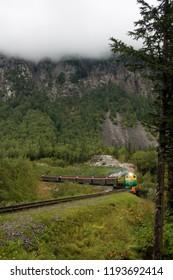 Train in Skagway, Alaska