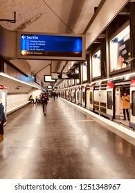 Train station at 11th Arr. Paris. France. 5 December 2018