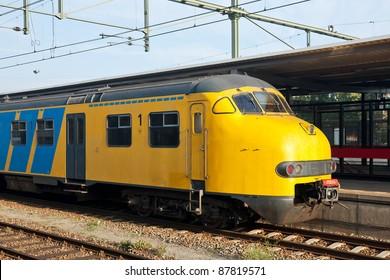 Train at a station