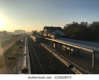 Train station of Cleves in the early morning