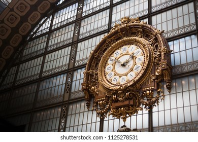 train station clock 1900 year Paris France Europe
