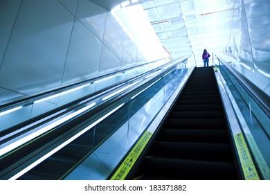 train station escalators in taiwan