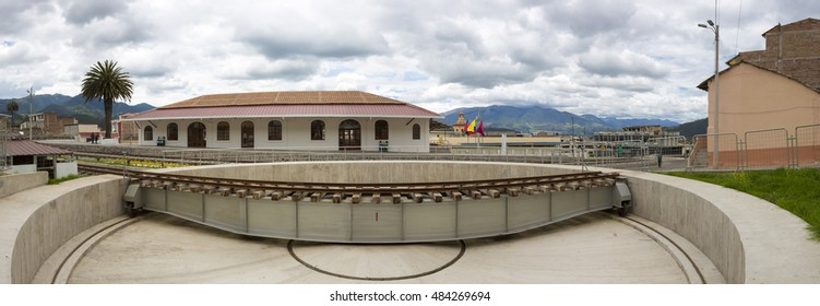 Train station of Ibarra in Otavalo. It is the starting point of many luxury train journeys in the volcanic area. Ecuador 2015.