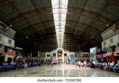 train station indoor / concept: blurred background photo