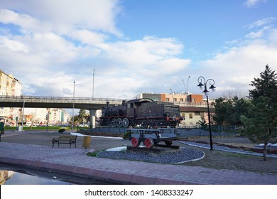 Train Station, Kayseri/Turkey- April 21, 2019: Historical Train Station of Kayseri is one of the important station at the east of Turkey
