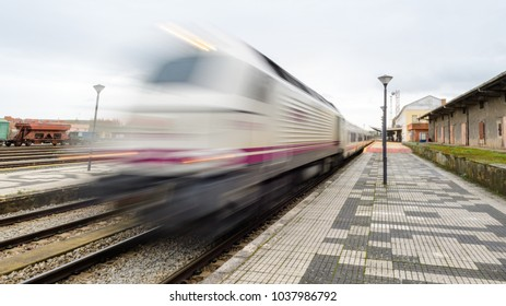 train station leaving at high speed, sensation of movement