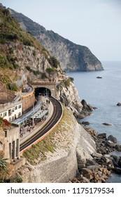 the train station in Manarola, Italy