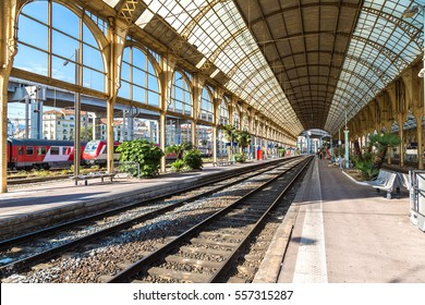 Train station in Nice in a beautiful summer day, France