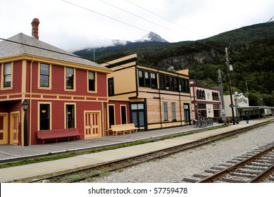 train station in small frontier town