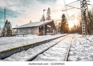 Train station - Stara Lesna, Vysoke Tatry