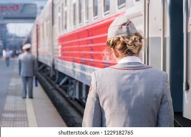 At train station, waiting, trans siberian railway, Russia