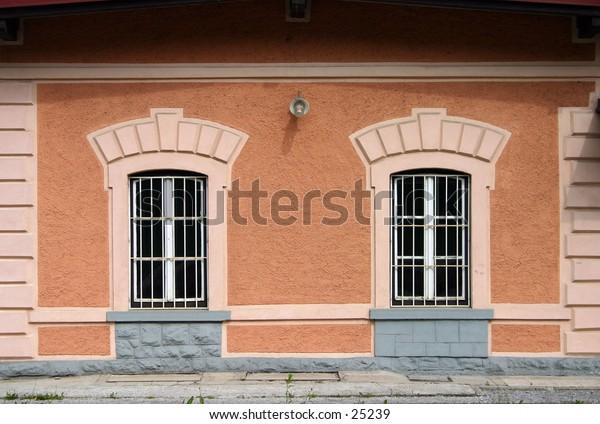 train station windows, Kranj, Slovenia