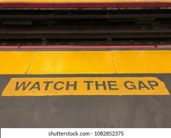 Train stations always alert people to watch the gap
