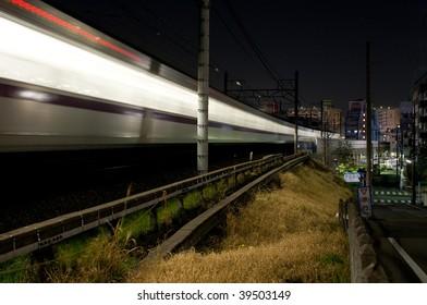 Train in Tokyo, Japan.