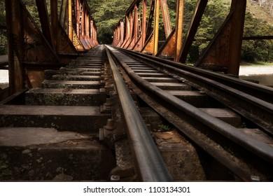 Train track to Aguas Calientes. Peru